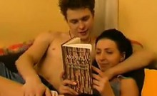 Skinny Russian Mother And Her Lover Get It On