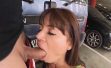 Franceska Jaimes got slammed in the ass