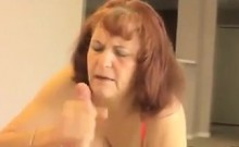 Nasty Grandma Giving A Handjob Point Of View