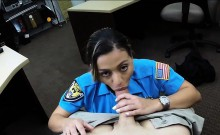 Big ass amateur police officer pounded at the pawnshop