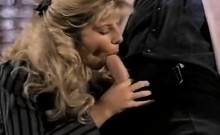Angela Summers, Jon Dough in nasty facial cumshot for a