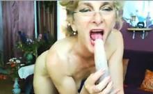Slim And Horny Granny Masturbates