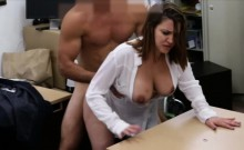 Foxy busty business lady nailed by pawn man for plane ticket