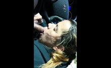 blowjob and cum meal in our car