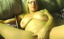 Fat Blonde Woman Masturbates On Camera