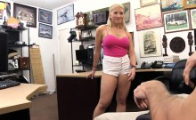 Busty stripper screwed by horny pawn guy at the pawnshop