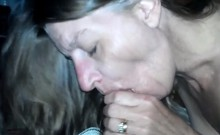 Kinky housewife drops her tight panties and takes a dick in her mouth