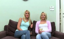 Divine doggystyle pounding for babes soaked hairless beaver