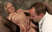Flappy Tit Granny Sucks Dick