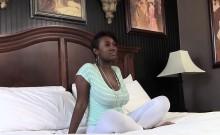 Ebony teen face spunked