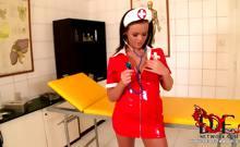 Deviant nurse fucks herself!