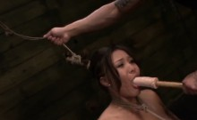 Asian Babe Tied Up For Hardcore Mouth Fucking
