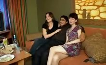 Teen girls being naughty at party