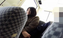 Spycam asian fingered bus