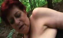 Redhead Granny In Hardcore Outdoor Sex Action