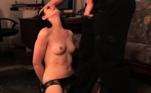 Kinky slave deepthroats her master is rod