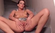 Slutty czech girl gapes her slim slit to the strange