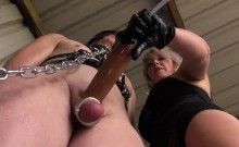 Dominatrix teases pathetic subs with CBT
