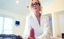 Busty Cougar Brandi Love Deals With Morning Wood