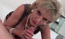 Unfaithful English Mature Gill Ellis Displays Her Massive Br