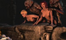 3d Terrifying Aliens Fuck Poor Girls!