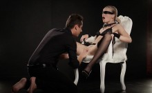XCHIMERA - Czech blondie gets blindfolded and banged