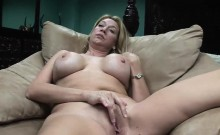 Naughty Blonde Wench Gets To Masturbate