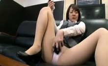 Asian college bimbo in cafeteria riding cock
