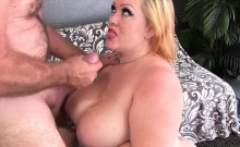 Sexy and curvy plumper makes her boyfriend super hard and