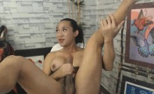 Asian Busty Tranny Babe Suck Her Own Cock