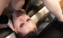 Tattooed Up Mallory Man Eater Getting Her Face Hammered