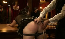 Tied up Asian babe receives hardore pleasures