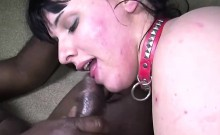 Heavy Whore Gags To Big Black Cock