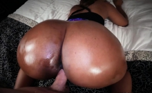 Chunky white cock romps Chanell Hearts pussy from behind