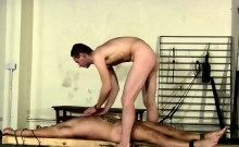 Gay porn bum ass first time Theo lays bare and restrained, h