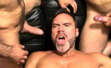 Muscle Bear Flip Flop With Cumshot