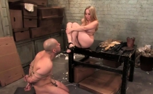 Busty Aiden Starr Rides Guy In Bondage