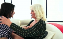 Busty Euro Granny Pussylicking Teen