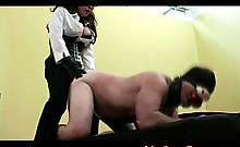 Slave dildo fucked like a swine