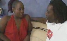 Hot Ebony Mouthing a Big Dick