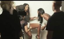 Rihanna seethrough to her ebony breasts in a photoshoot