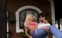 Blonde Brazilian Double Penetrated Outside