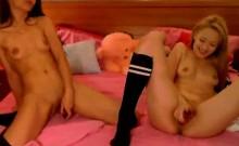 Two Hot Teens Masturbating Together