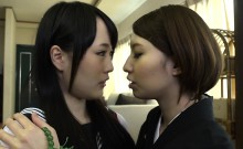 Hot Japanese Lesbian Teens love to fingerfuck each other pus