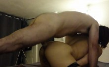 Attractive brunette getting her anal hole roughly drilled f