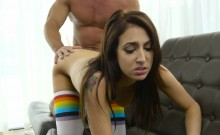 Teen Aubrey gets nailed by her older bf
