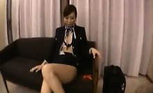 Elegant Japanese lady with hot long legs gets pleased with