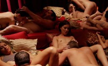 Sexy amateur couple tries a swinger club for the first time