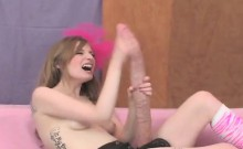 Flirty kittens pound the biggest strap-ons and spray jism al