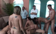 Hardcore group sex party with stunning lassies